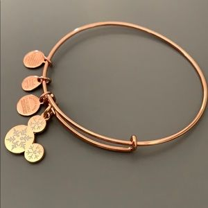 Alex and Ani Rose Gold Mickey Snowflake Bracelet